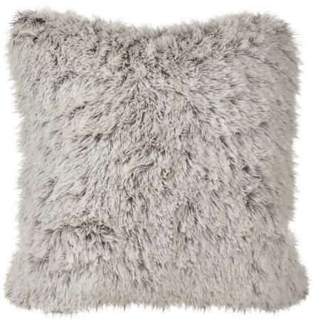 Saro Lifestyle Juneau Two-Tone Faux Fur Throw Pillow (18