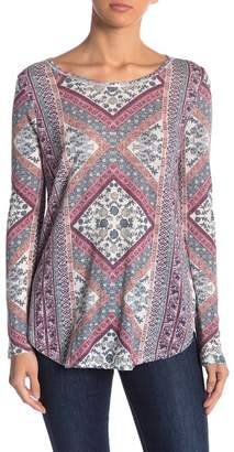 Lucky Brand Tapestry Long Sleeve Tee