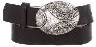 Leather Rock Leather Buckle Belt