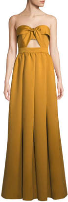 Jay Godfrey Mirabell Strapless Cutout Gown Dress w/ Full Skirt