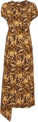 Victoria Beckham Drape Neck Midi Dress