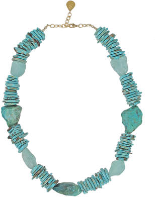 Devon Leigh Turquoise, Chrysocolla & Quartz Necklace