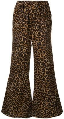 Mes Demoiselles leopard flared trousers
