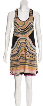 Calypso Reversible Print Mini Dress w/ Tags