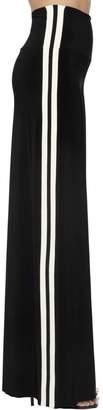 Norma Kamali Wide Leg Stretch Jersey Track Pants