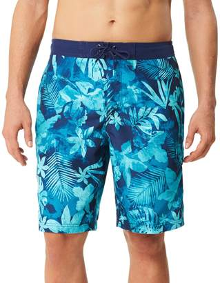 Speedo Men's Marble Floral Board Shorts