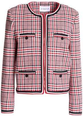 Claudie Pierlot Vanina Checked Cotton-Blend Jacket