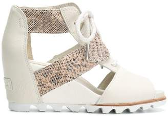 Sorel wedge lace up sandals
