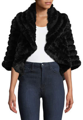Neiman Marcus Luxury Cashmere Fur Shrug