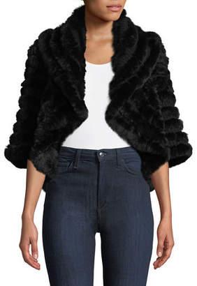 Neiman Marcus Luxury Cashmere Fur Shrug