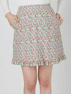 merry jenny (メリー ジェニー) - 花柄フリルミニスカート