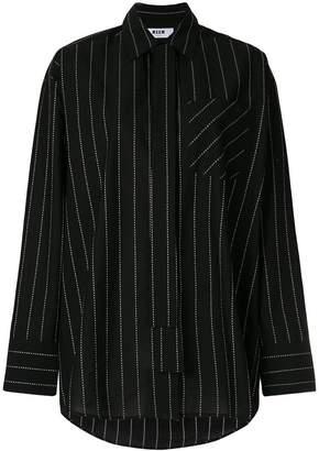 MSGM oversized pinstripe shirt