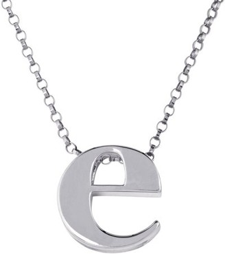 """Generic Initial """"e"""" sterling silver pendant"""
