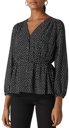 Whistles Confetti Heart Print Top