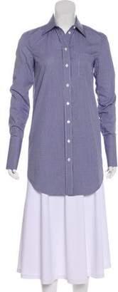 Michael Kors Gingham Button-Up Top