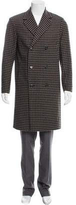 Theory Gingham Double-Breasted Overcoat