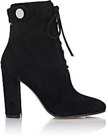 Gianvito Rossi WOMEN'S SUEDE FINLAY BOOTIES-BLACK SIZE 5.5
