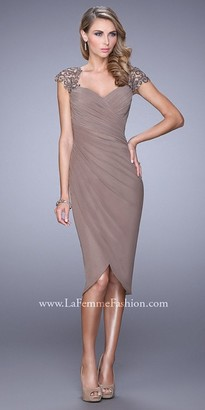 La Femme Tulip Shaped Hem Cocktail Dress $378 thestylecure.com
