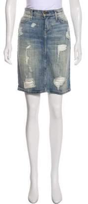 Current/Elliott Denim Knee-Length Skirt