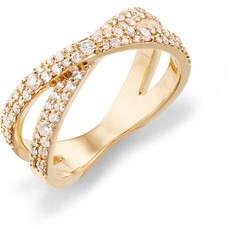 Lana 14k Flawless Diamond Vanity Crisscross Ring, Size 7