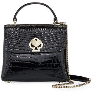 Kate Spade Romy Croc-Embossed Mini Top-Handle Bag