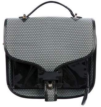 Opening Ceremony Leather-Trimmed Jacquard Satchel