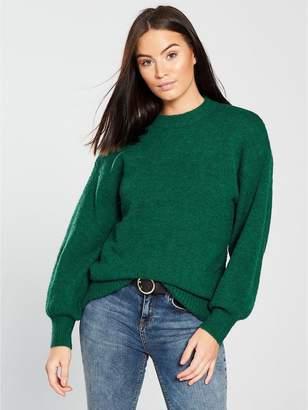 Warehouse Premium Wool Blend Jumper - Green