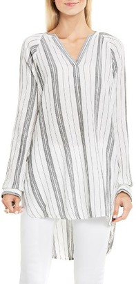 Women's Two By Vince Camuto Stripe Cotton Gauze Tunic $99 thestylecure.com
