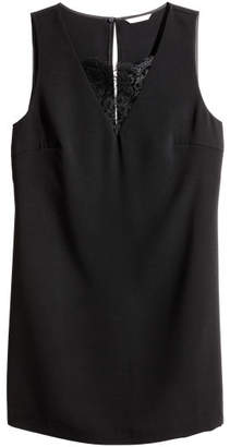 H&M H&M+ Short Dress - Black