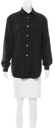 Yohji Yamamoto Long Sleeve Button-Up Top $90 thestylecure.com