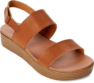 Madden-Girl Cognac Ashley Platform Slingback Sandals