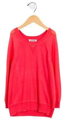 Autumn Cashmere Girls' Lightweight Raglan Sweater