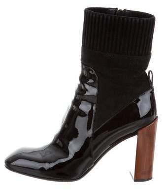 Louis Vuitton Square-Toe Ankle Boots