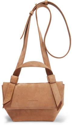 6c296026b Acne Studios Musubi Milli Small Knotted Suede Shoulder Bag - Beige