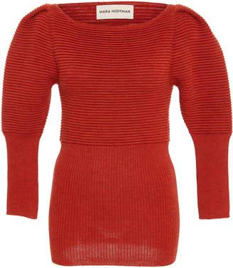 Mara Hoffman Helena Rib Knit Wool-Blend Top