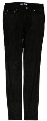 BLK DNM Leather Mid-Rise Skinny Pants w/ Tags
