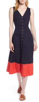 1901 Colorblock Cotton Midi Dress