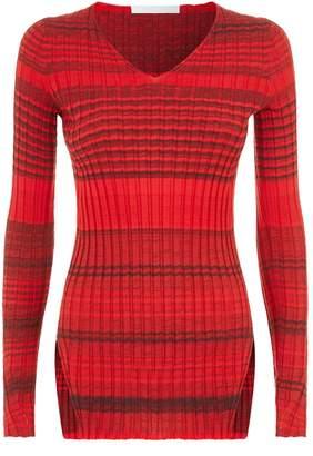 Helmut Lang Wool Striped Sweater