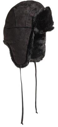 Women's Barbour Faux Suede Trapper Hat - Black $89 thestylecure.com