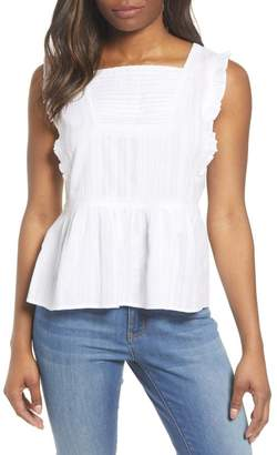 Caslon Sleeveless Ruffle Peplum Top