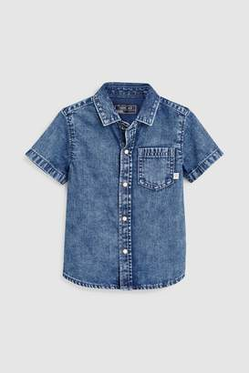 Next Boys Denim Short Sleeve Shirt (3mths-7yrs)