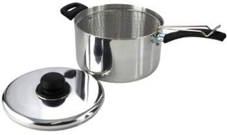 The Sapphire Collection 22Cm Polished Deep Chip Pan And Lid