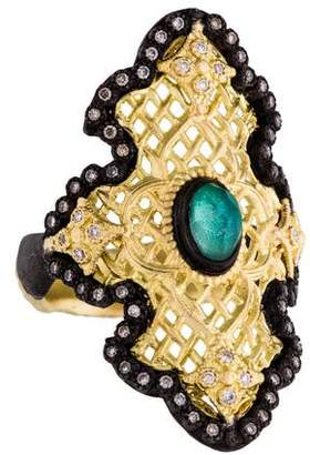 Armenta Old World Large Scroll Mesh Ring w/ Tags