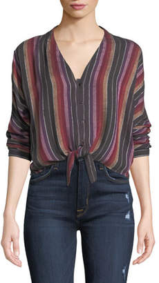 Rails Sloane Striped Tie-Front Blouse