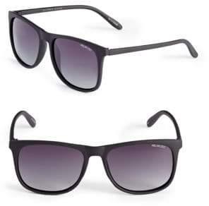 50f481209bfd6 Alfred Sung 55mm Polarized Matte Wayfarer Sunglasses