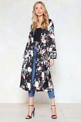 Nasty Gal A Little Bird Told Us Print Kimono