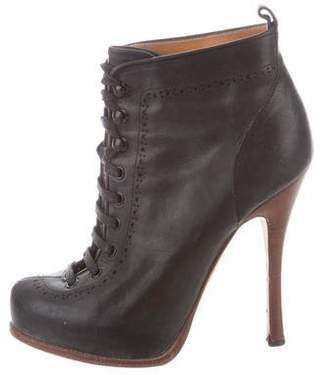 DSQUARED2 Leather Lace-Up Boots