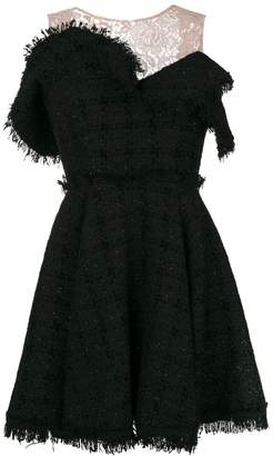 MSGM lace panel flared dress
