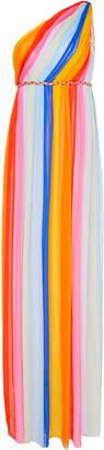 Carolina Herrera One Shoulder Column Gown