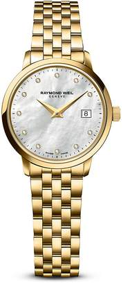 Raymond Weil Toccata Gold PVD Stainless Steel Watch with Diamonds, 29mm